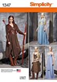 Simplicity Creative Patterns 1347 Misses' Fantasy Costumes Sewing Patterns, Size R5 (14-16-18-20-22)