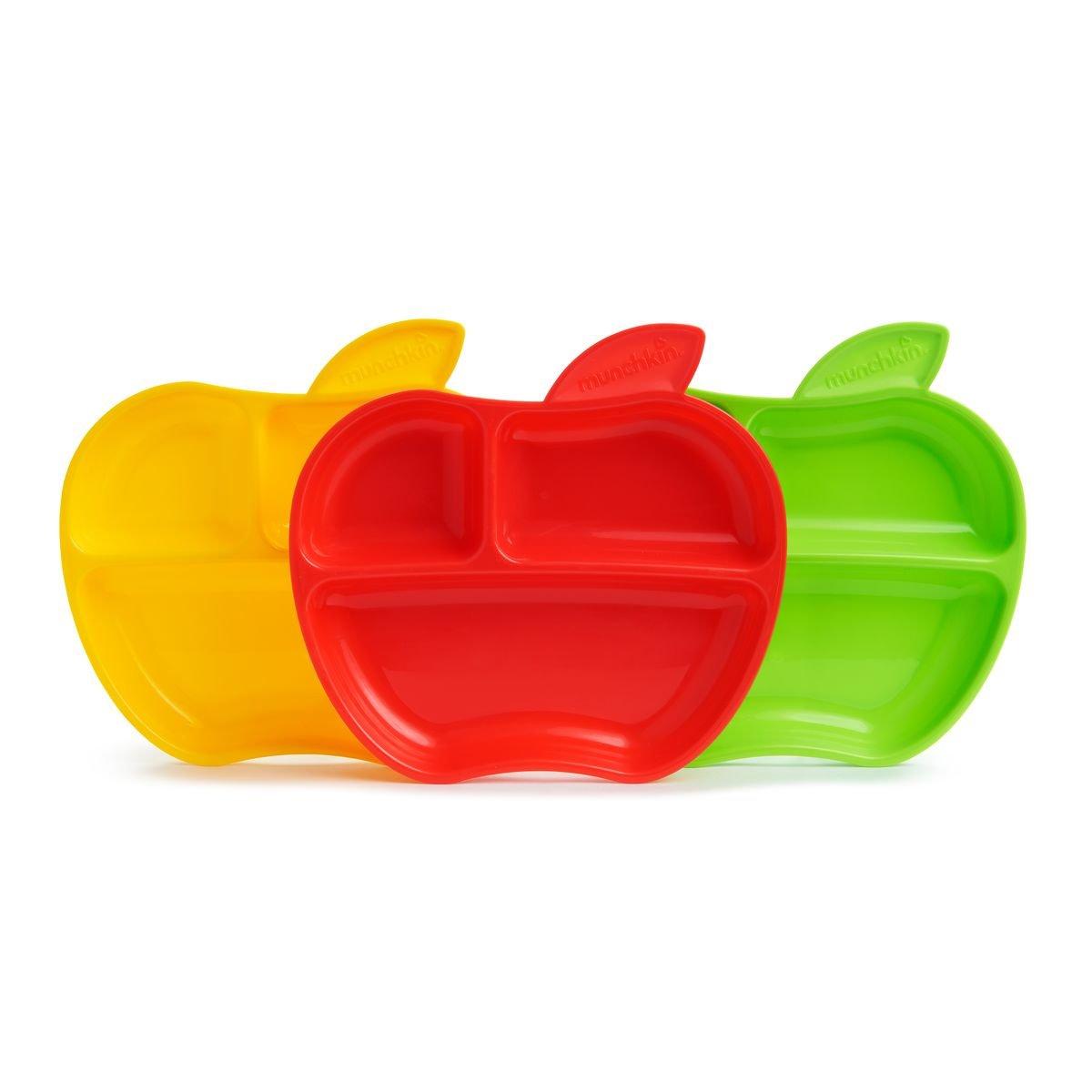 Munchkin Tellerchen in Apfelform, 3er-Pack, mehrfarbig Munchkin Asia Limited 012102WWW