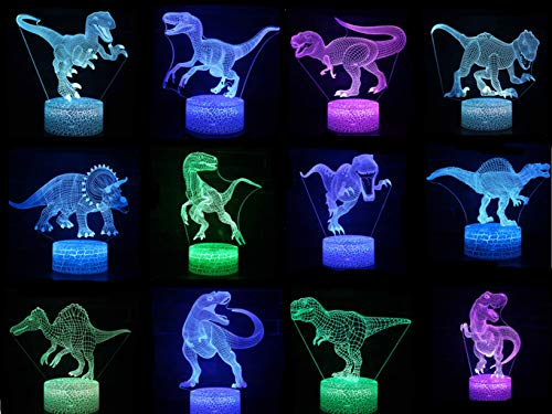 Dinosaur 3D LED Night Lights 3D Amazing Optical Illusion 7 Colors Changing Table Desk Lamp Home Decoration Kids Toys Gift (C20)