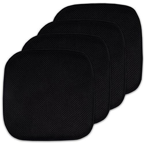 4 Pack Memory Foam Honeycomb Nonslip Back 16″ x16″ Chair/Seat Cushion Pad