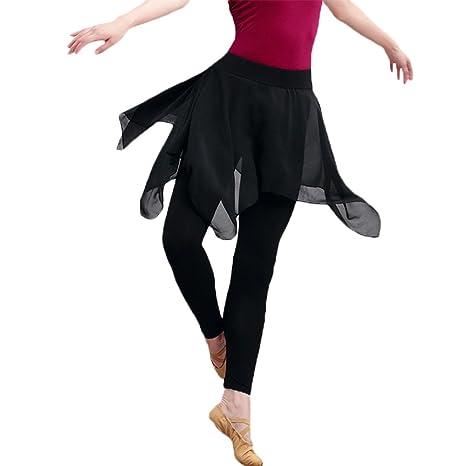 YI NA SHENG WU Danza Práctica Ropa Mujer Pantalón Falda Pantalón ...