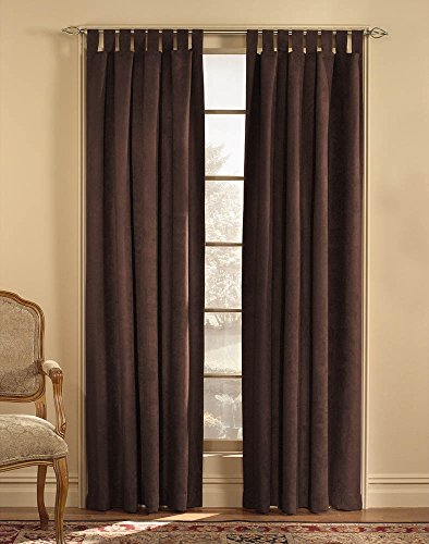 (Microsuede Ultra Suede 50-by-63-Inch Tab-Top Window Curtain)