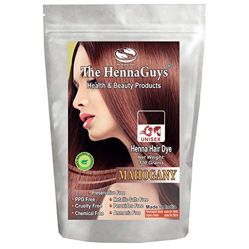 (MAHOGANY Henna Hair & Beard Dye/Color - 1 Pack - The Henna Guys)