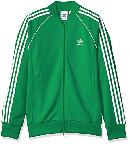 (adidas Originals Men's Superstar Track Jacket, Green, M )