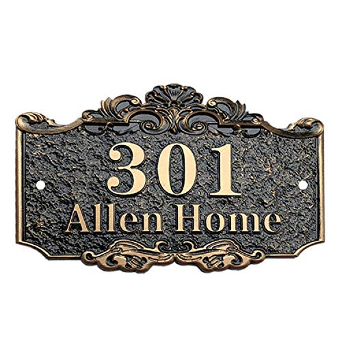 (Aspire Personalized House Number Plaque, Street Address Signs, Custom House Numbers and Letters-Bronze-7.9
