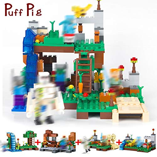 Best Quality 378pcs 4 in 1 My World minecrafted City Dragon Figures Building Blocks Bricks Set Compatible legoed Classic Toys for Children -