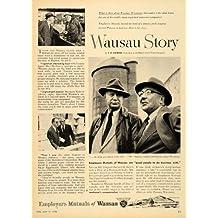 1954 Ad Employers Mutual Insurance Wausau Story Rakow - Original Print Ad