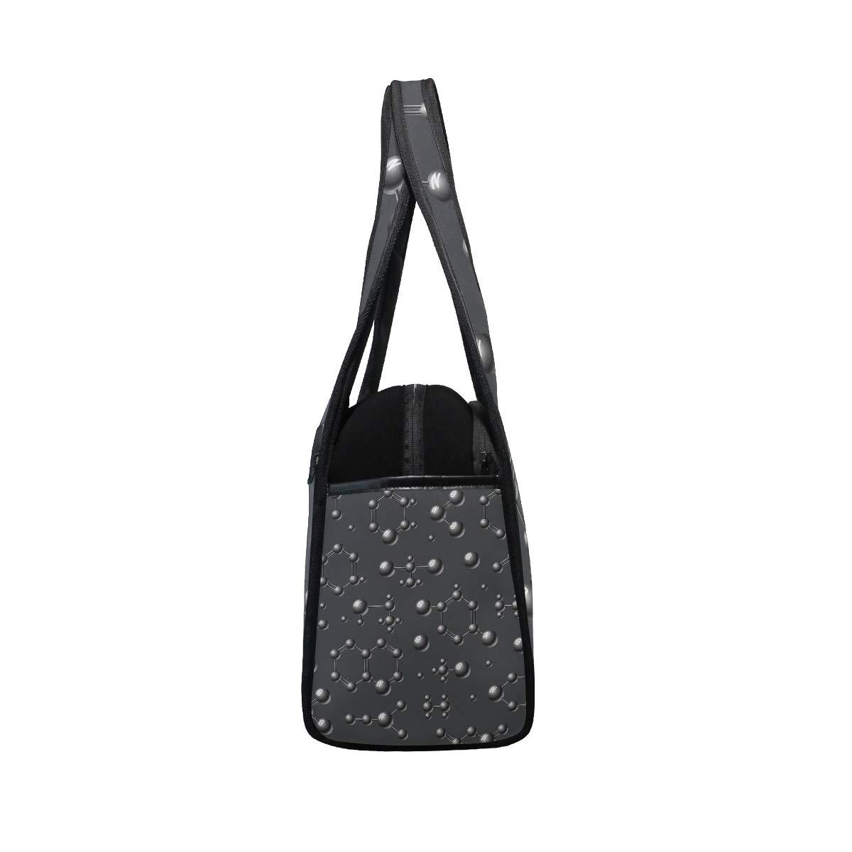 Gym Bag Sports Holdall Atomic Pattern Canvas Shoulder Bag Overnight Travel Bag for Men and Women