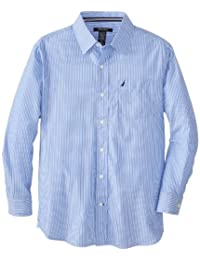 Nautica Big Boys' Long-Sleeve Striped Shirt
