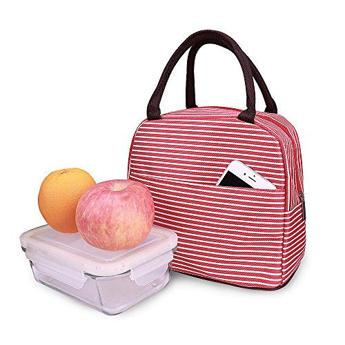 Insulated Lunch Bags for Adults,Kids,Men,Women, Waterproof Lunch Totes (Red)
