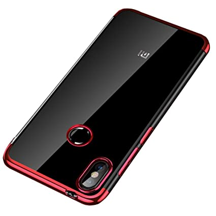 newest collection 55c0a 07c9b Sajni Creations Electroplated Soft Tpu 3D Anti-Knock Ultra Thin Transparent  Silicon Back Cover Case for Xiaomi Redmi Note 5 Pro (red)