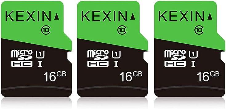 Kexin 16gb Micro Sd Karte 3 Stück Uhs I Microsdhc Computer Zubehör