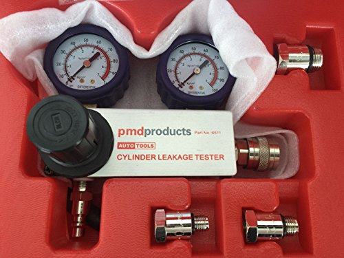 Engine Cylinder Differential Leakdown Tester Dual Gauge Kit High Pressure 100PSI