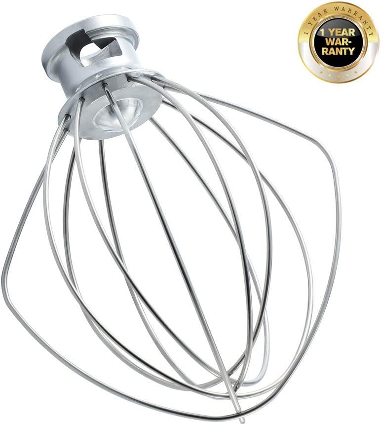 Wire Whip for KitchenAid Tilt-Head Stand Mixer Accessory Replacement, Egg Cream Stirrer, Cakes Mayonnaise Whisk,Whipping Egg White