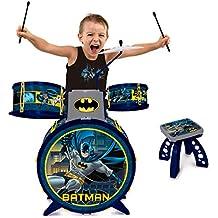 Bateria Infantil Cavaleiro das Trevas Batman Azul