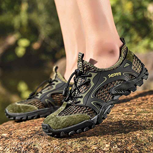 Creek Los Zapatos Senderismo Aire Verde De Al Planos Verano Cala Cómodos Casual Libre Transpirable Deporte Deportivos Alikeey Hacia Hombres Mocasín FqwpdPP