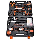 General Household Home Repair Homeowner's Tool Kit for Maintenance with Plastic Box Storage Case, 82-Piece