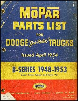 1948-1953 Dodge Pickup and Truck Parts Book Original B1 B2 B3 B4