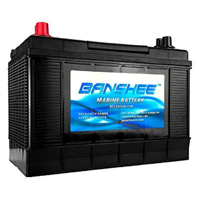 Deep Cycle Marine Battery, Group 31, 900 CCA, Top Post