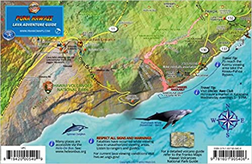 Puna Hawaii Lava Adventure Guide Map Kilauea Volcano Big Island