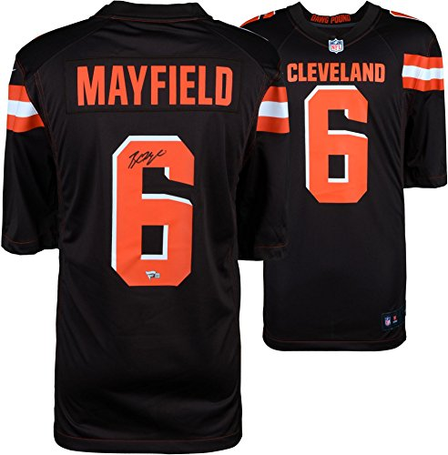 Baker Mayfield Cleveland Browns Autographed Nike Game Jersey - Fanatics Authentic Certified - Autographed NFL Jerseys ()