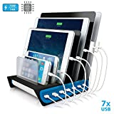 Naztech Power Hub 7-Port USB Charge / Docking Station, Individually Charge 7 Devices Simultaneously with Smart Charging Technology, Compatible For iPhone 8/8 Plus, Galaxy S9/S9+, iPads, Laptops & Other Devices