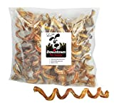 Downtown Pet Supply 7' - 9' Curly Spiral Bully Sticks, Bully Springs for Dogs Made in USA - Regular Select Thick - Odor Free Dog Chew Treats, (10 Pack)