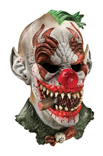 Foam Latex Mask, Deluxe Fonzo The Clown-Adult (Scary Smiling Clown)