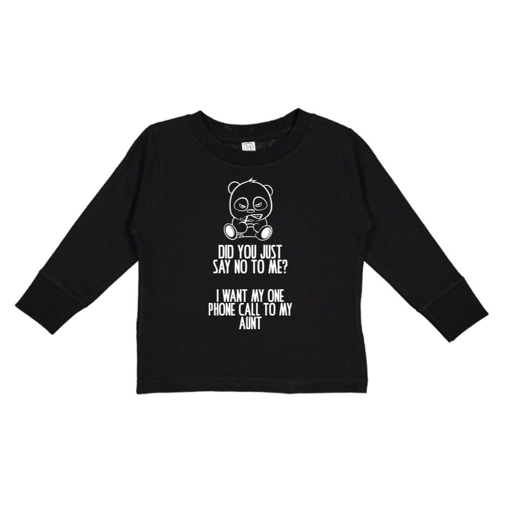 Toddler//Kids Long Sleeve T-Shirt I Want My One Call to My Aunt No