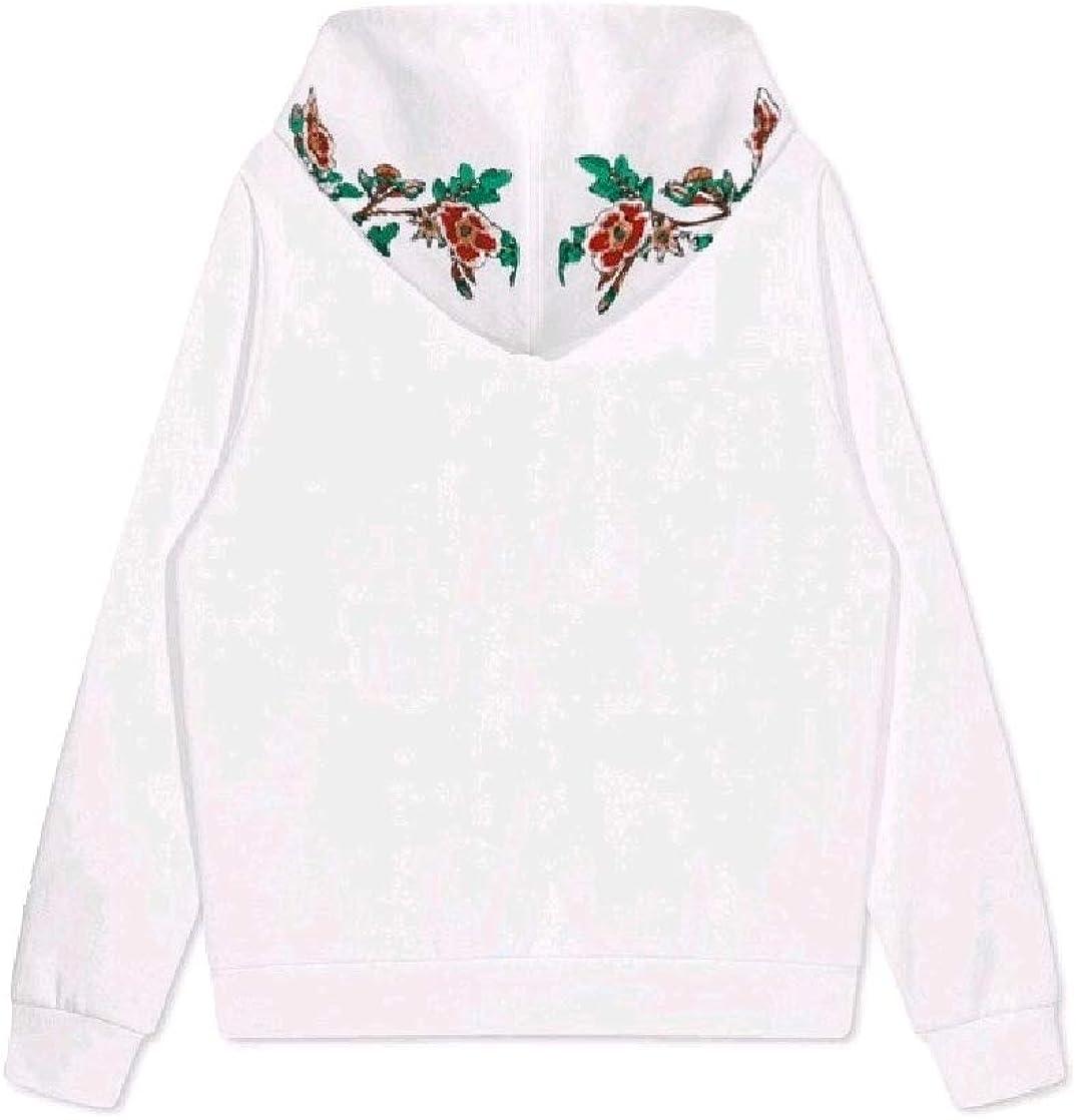CrazyDayMen Oversize Hood Embroidery Juniors Pullover Sweatshirt