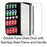 Tramontina 4.4 Cu.Ft. Wine and Beverage Center-126 Can Capacity (12 oz. cans)-Adjustable Electronic Thermostat with Digital Display-LED Interior Light
