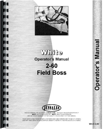 - White 2-60 Tractor Operators Manual