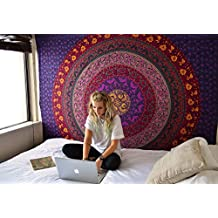 Tapestry Purple Hippy Mandala Dorm Room Divider Bohemian Tapestries Picnic Beach Throw Sheet By Rajrang