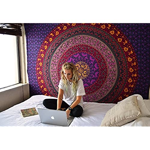 Hippie Tapestry Hippy Mandala Bohemian Tapestries Indian Dorm Decor Psychedelic Wall Hanging Ethnic Decorative By Rajrang