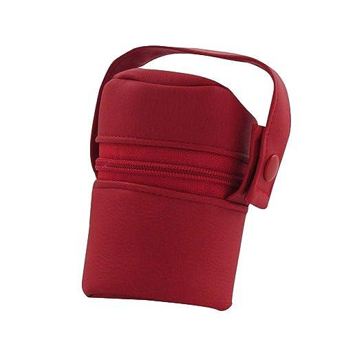 Suley Porta Chupete Polipiel Bebe - Color Rojo: Amazon.es ...