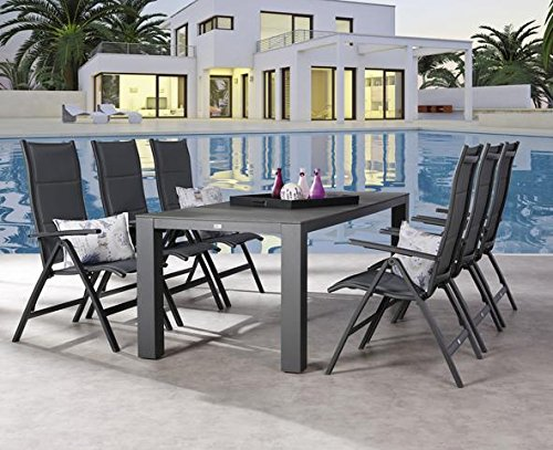gartengarnitur gartengruppe 7 tlg garten set gartenm bel gartenm belset modern g nstig kaufen. Black Bedroom Furniture Sets. Home Design Ideas