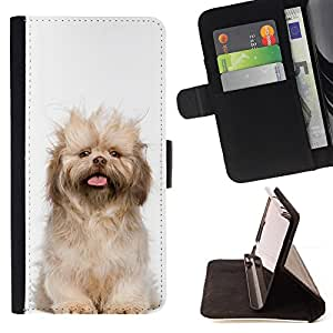 KingStore / Leather Etui en cuir / LG G2 D800 / Norfolk Terrier Cachorro Glen Of Imaal perro