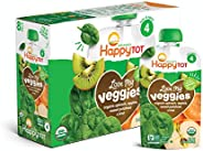 Happy Tot Organic Stage 4 Baby Food Love My Veggies Spinach Apple Sweet Potato & Kiwi, 4.22 Ounce (Pack of