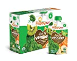 Happy Tot Organic Stage 4 Baby Food Love My Veggies Spinach Apple Sweet Potato & Kiwi, 4.22 Ounce Pouch (Pack of 16) Baby Food/Toddler Food Pouches, Full Serving of Vegetables (Packaging May Vary)