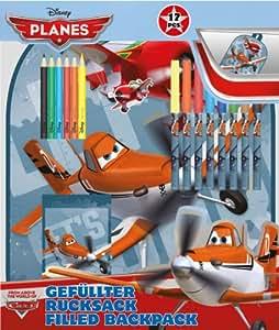 Mochila + set papeleria Aviones Planes Disney
