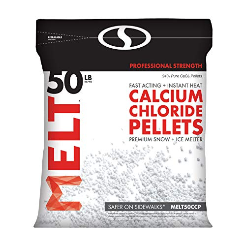 Snow Joe MELT50CCP 50-LB Professional Strength Calcium Chloride Pellets Ice Melter Resealable ()