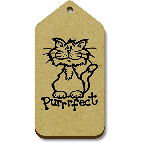 10 Azeeda 66mm 'Purrfect' 34mm Tag X tg00003790 regalo bagaglio pOqprPvc