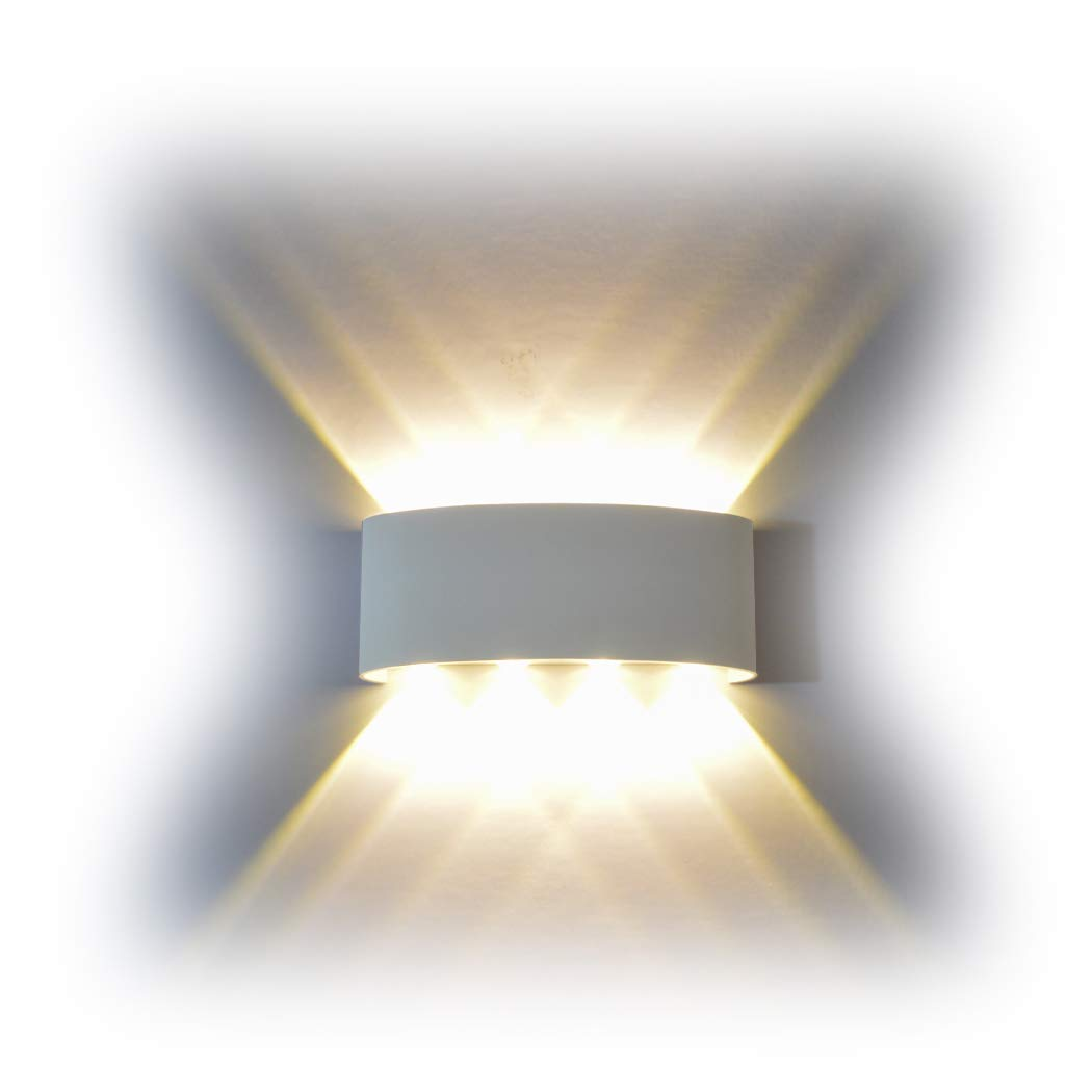 Funrui 8w wall sconce ip65 waterproof wall light large power led bright wall lamps up and down wall wash light for outdoor indoor living room bedroom door