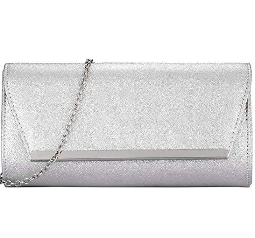 (Womens Evening Clutch Bridal Prom Handbag shoulder bag Wedding Purse Party Bag)