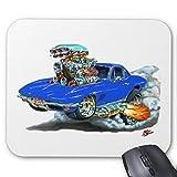 Pillow Perfect Office Mousepads 1966-67 Corvette Blue Car Mouse Pad