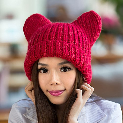 Invierno Coreano Hop Hechos a de Punto 3 Maozi Auge del del de Sombreros Gorros Mano Lindo señoras Lana 1 Hip Grueso UUgTq0Pw
