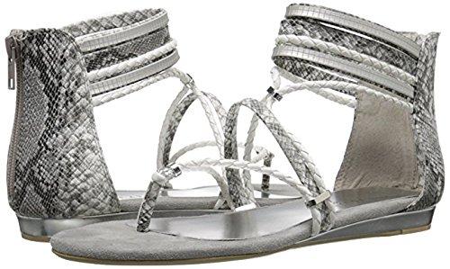 (Very Volatile Women's Larissa Gladiator Sandal, White/Multi, 8 B US)