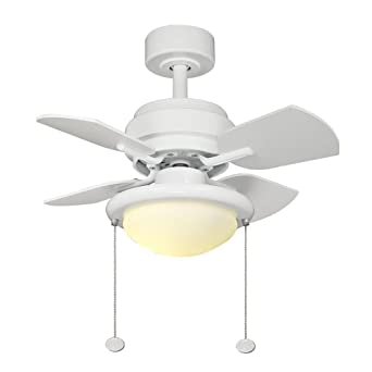 Metarie 24 In. White Ceiling Fan White