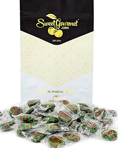 SweetGourmet Chocolate Mint Starlight | Clear Wrap Bulk Hard Candy | 1 Pound