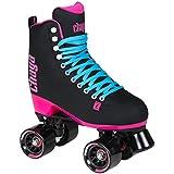Chaya Melrose Black & Pink Quad Indoor/Outdoor Roller Skates (Euro 40 / US 9)